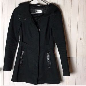 Mackage Coat with Leather Trim Pockets